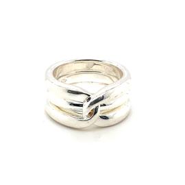 Zilveren ring mt 17 x 10 mm
