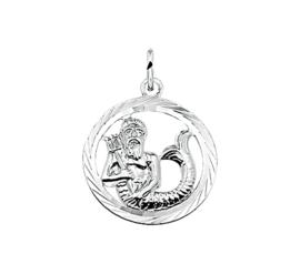 Zilveren bedel met waterman sterrenbeeld