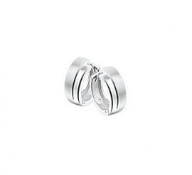 Zilveren klapcreolen