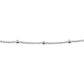 Zilver armband anker met bolletjes 17 cm x 3 mm