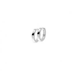 Zilveren klapoorringen vlakke buis 2 mm x 10,5 - 15 mm