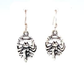 Zilveren oorhangers schorpioen