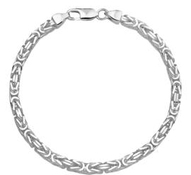 Zilveren armband konings 20-21 cm 4,0 mm