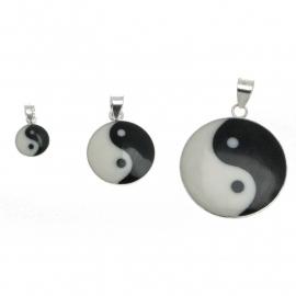 Zilveren bedel Yin Yang 25 mm