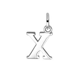 Zilver hanger letter X gerhodineerd