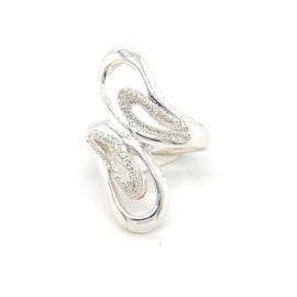 Zilveren ring vrije vorm 17 - 18,75 x 28 mm
