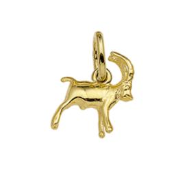 Gouden sterrenbeeld ram hanger