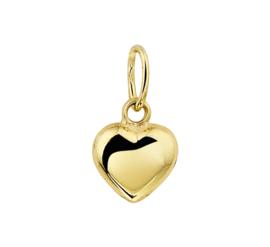 Gouden kruis hartje 5,5 x 6,5 mm