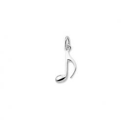 Zilveren bedel muzieknoot achtste
