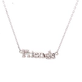 Zilveren ketting geschreven Friends 42 - 46 cm