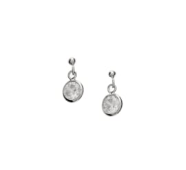 Zilveren oorhangers stekers zirkonia 5 mm
