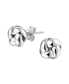 Zilveren oorknoppen knoop 13 mm