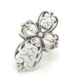 Zilveren ring kruis 17,25 - 19 x 38 mm