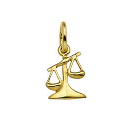 Gouden sterrenbeeld weegschaal hanger