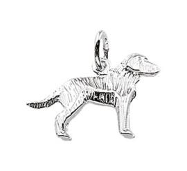 Zilveren bedel labrador