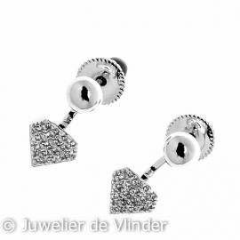 Zilveren oorbel bol 5 - 8 mm zilver