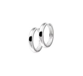 Zilveren klapoorringen bolle buis 3 mm