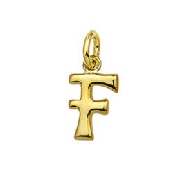 Gouden letter F hanger