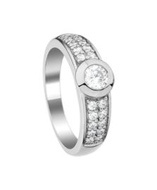 Zilveren ring zirkonia kleine maat 15 - 21