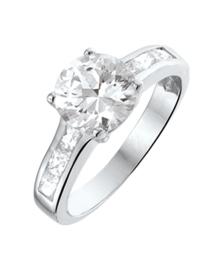 Zilveren ringen zirkonia 8 mm maat 20,25