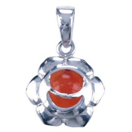 Zilveren bedel chakra karne heiligbeen