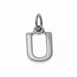 Zilver hanger letter U