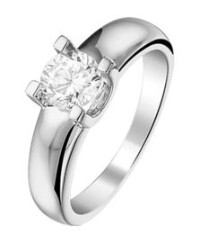 Zilveren ringen zirkonia maat 15 - 21
