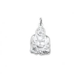 Zilveren bedel Boeddha groot