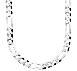 Zilveren kettingen Figaro 6 mm x 50 - 60 cm (dik)