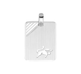 Zilveren graveerplaatje sterrenbeeld stier 14 x 19 mm