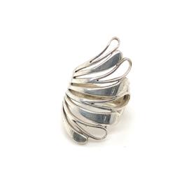 Zilveren ring vrije vorm mt 17,25  x 33 mm