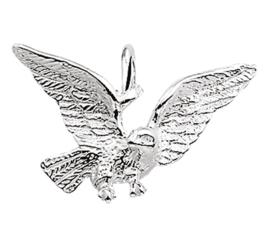 Zilveren bedel adelaar