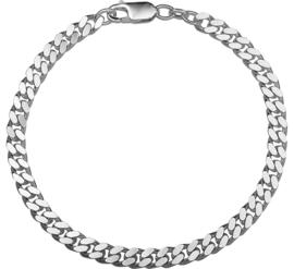 Zilveren armband gourmet 5 mm 20 cm (dik)