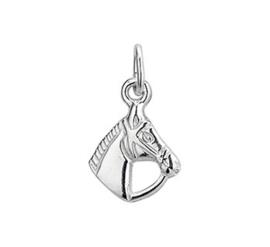 Zilveren bedel paardenhoofd 9,5 mm
