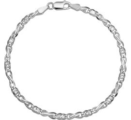Zilveren collier valkenoog 18 - 19 cm x 3,5-4,5 mm