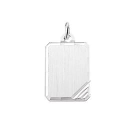Zilveren graveerplaatje rechthoek 16 x 21 mm