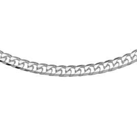 Zilveren herenketting gourmet VKS geslepen 5 mm x 45 - 60 cm