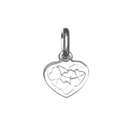 Zilveren bedel hartje 8,5 mm