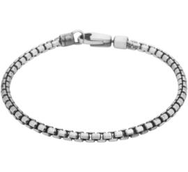 Zilveren armband venetiaans oxi 20 - 22 cm
