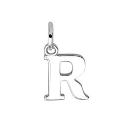 Zilver hanger letter R gerhodineerd