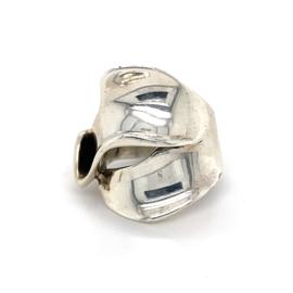 Zilveren ring vrije vorm mt 16,25 - 16,75 x 23 mm