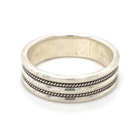 Zilveren ring geoxideerd mt 21,5 x 7 mm
