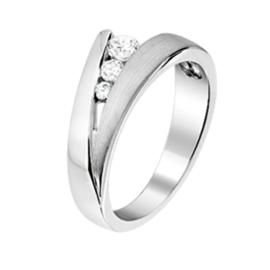Zilveren ring zirkonia maat 15-21