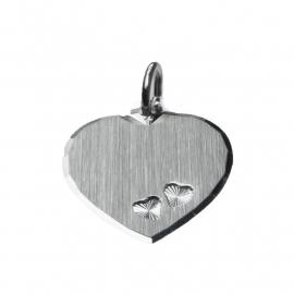 Zilver graveerhartje 15 x 17 mm