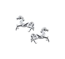 Zilveren oorknoppen paard