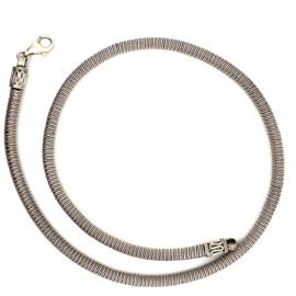 Zilveren collier/ketting geoxideerd 45 cm x 5 mm