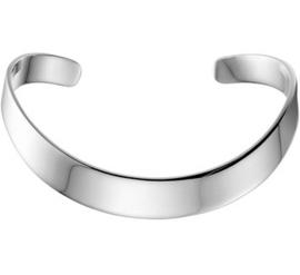 Zilveren klemarmband spang