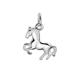 Zilveren bedel paard massief