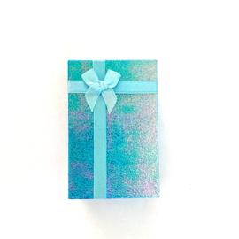 Cadeauverpakking: blauw schitterend doosje 50 x 800 mm