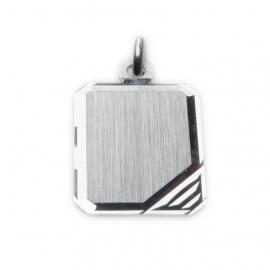 Zilveren graveerplaatje rechthoek 12 x 16 mm